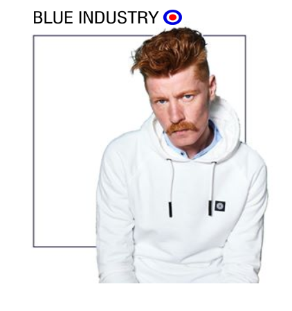 Blue industry hooded sweater